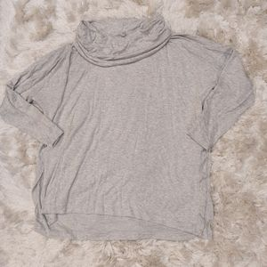 Lou and Grey Cowl Neck Sweater side slit XL